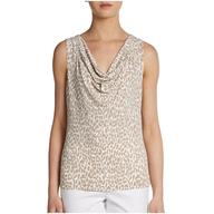 discount calvin klein womens cheetah blouse