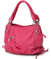 salvage fuchsia hobo handbag