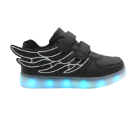 closeout led children black sneaker