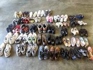 assorted men women used shoes truckloads