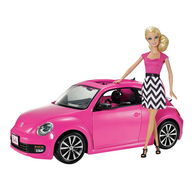 salvage barbie with pink car