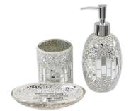 bathroom acc silver closeouts
