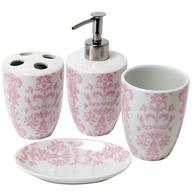 surplus bathroom accessories in pink