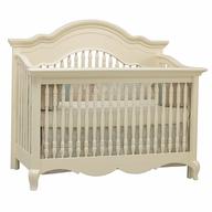 beige baby crib shelf pulls