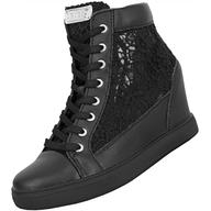 black guess heeled sneakers liquidators