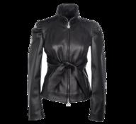 salvage black leather jacket
