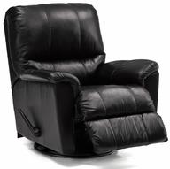 surplus black leather recliner chair