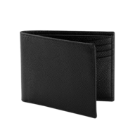 salvage black leather wallet