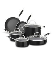 black pots sets shelf pulls