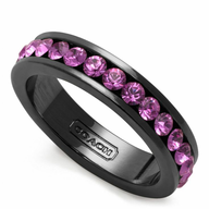 black purple diamond ring deals