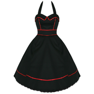 bulk black red womens dress