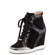 black sneaker wedge closeouts