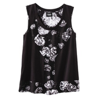 closeout black white flowered shirt