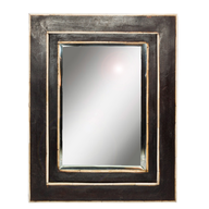 black wooden mirror closeouts