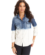 blossom&clover long sleeve dip dye chambray shirt pallets