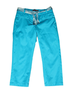 discount blue capri pants