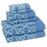 blue design towel set suppliers