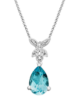 bulk blue diamond necklaces