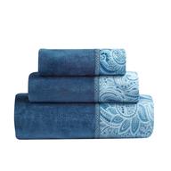 overstock blue flower towels