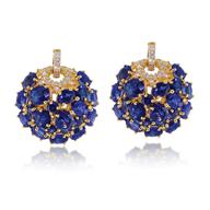 blue gold diamond earring deals