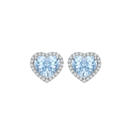 blue heart diamond earrings liquidators