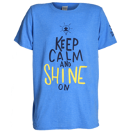 blue keep calm and shine on t shirt in bulk
