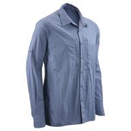 surplus blue long sleeve button down