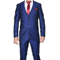 surplus blue red two piece mens suit