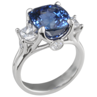 discount blue silver ring
