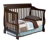liquidation boys dark wood baby crib