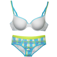 closeout bras and pantie white blue