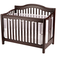 brown crib baby shelf pulls