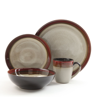 discount brown dishes set