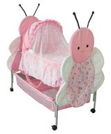 overstock butterfly bassinet