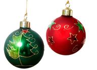 christmas balls shelf pulls