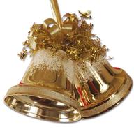salvage christmas gold bells