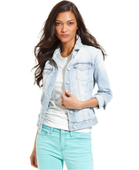 closeout ck light wash denim jacket