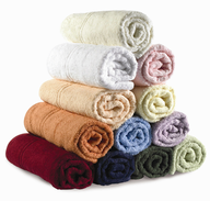 bulk colorful rolled towels