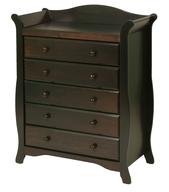 dark brown nursey dresser deals