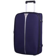 salvage dark purple suitcase