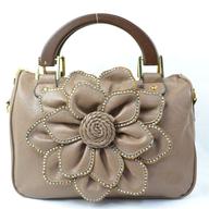 salvage flower beige handbag
