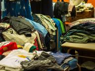 salvage folded used clothing