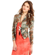 overstock free people camouflage fitted jacket