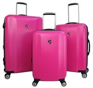 overstock fushia luggage set