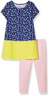 bulk girls short sleeve dress and legging set