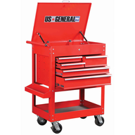 salvage glossy red tool cart