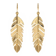 gold leaf earring in bulk