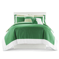 green bedspread shelf pulls