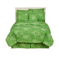 green comforter shelf pulls