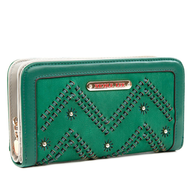 green nicole lee wallet lots